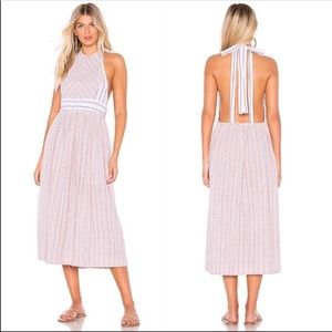 Free People | Color Theory Pink Combo Midi Dress